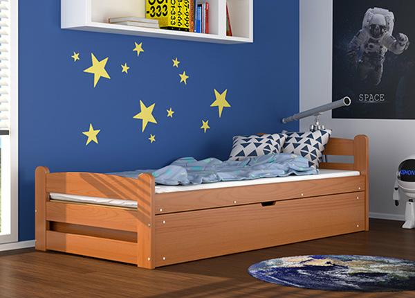 Pesukastiga voodi 90x200 cm