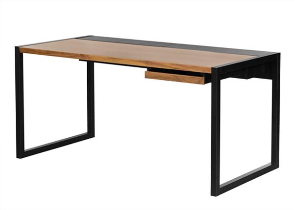 Työpöytä Renfrew Pro, pähkinä/musta