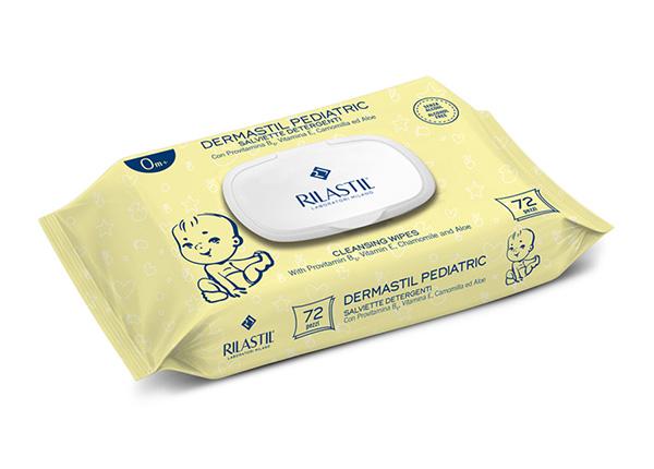 Rilastil Dermastil Pediatric салфетки с ромашкой 2x72 шт