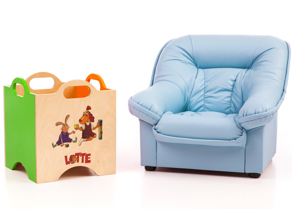 Laste tugitool Mini Spencer + mänguasjakast Lotte