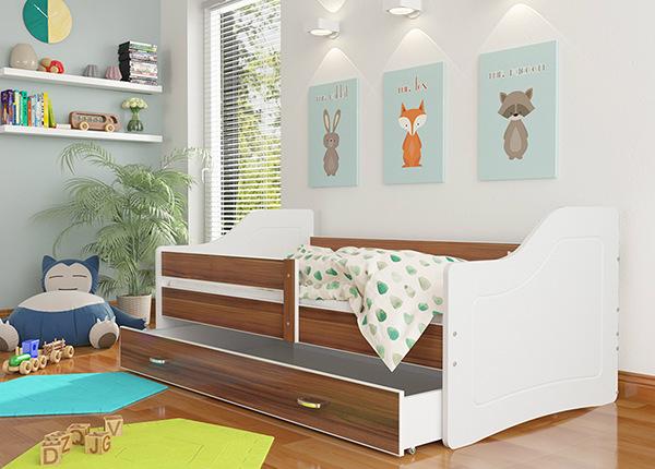 Lastensänky vuodevaatelaatikolla + patja 80x140 cm
