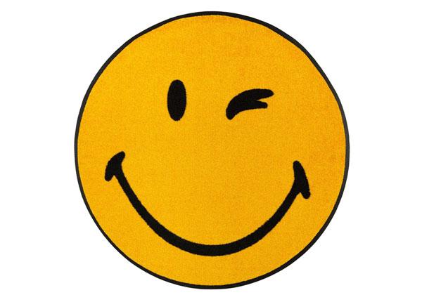 Ümmargune vaip Smiley Winky Ø 75 cm A5-152232