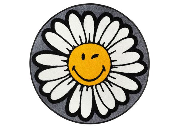 Ümmargune vaip Smiley Daisy Flower Ø 75 cm A5-152250