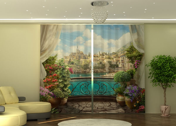 Poolpimendav kardin Balcony with Flowers 290x245 cm ED-152333