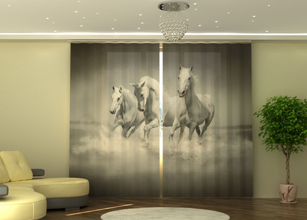 Poolpimendav kardin White Gracefulness 290x245 cm ED-152346
