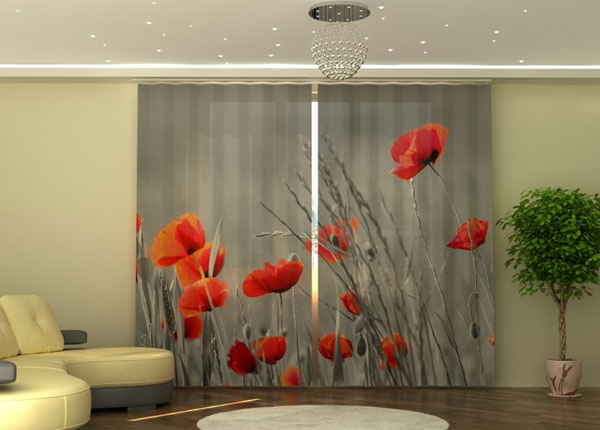 Poolpimendav kardin Wild Poppies 290x245 cm