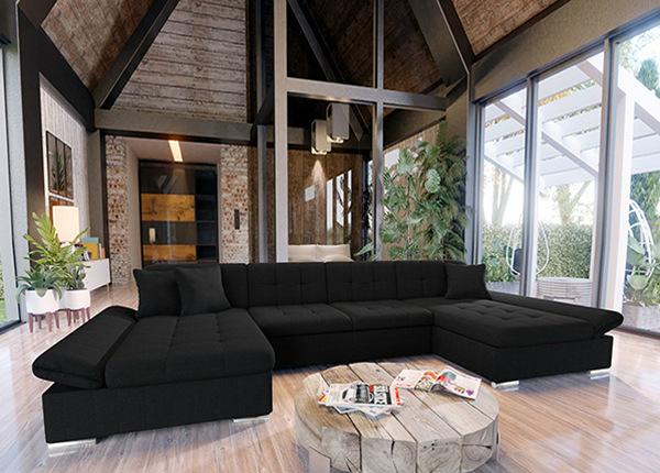Угловой диван-кровать с двумя ящиками TF-152935