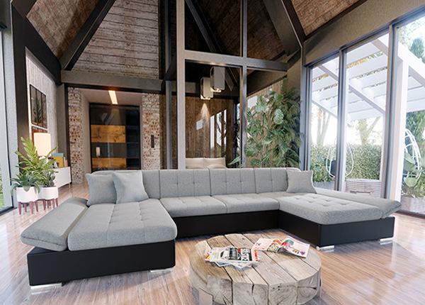 Угловой диван-кровать с двумя ящиками TF-152937