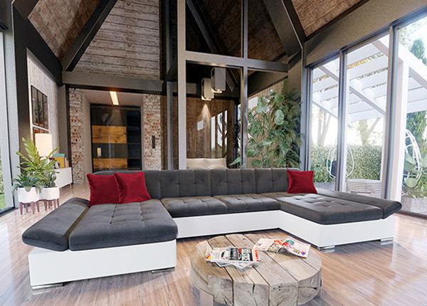 Угловой диван-кровать с двумя ящиками TF-152941