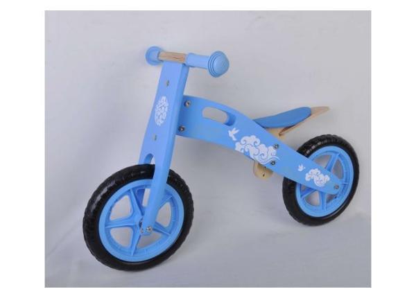 Puinen lasten potkupyörä 12 tuumaa sininen Yipeeh