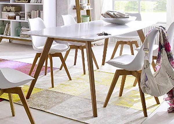 Jatkettava ruokapöytä Bess 160x95 cm AQ-154200