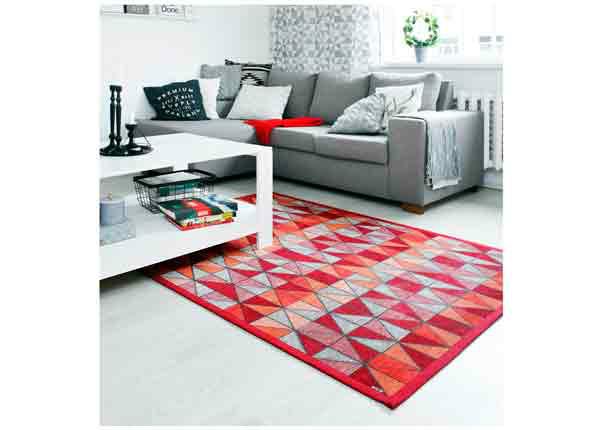 Narma smartWeave® matto Treski red 140x200 cm