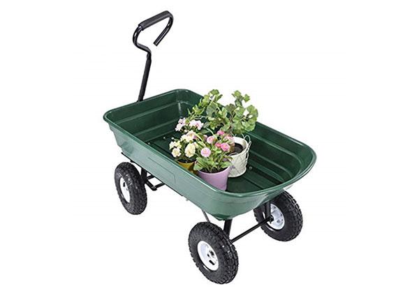 Садовая тележка на 4 колесах