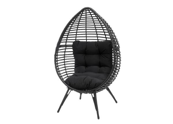 Садовый стул Pihapuu Egg чёрный