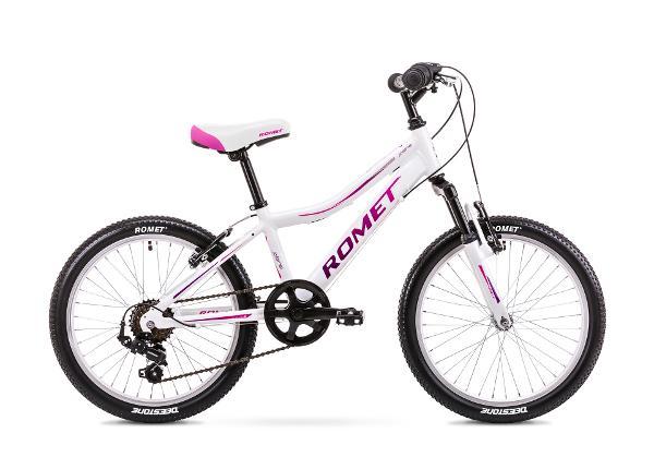 Laste jalgratas 11 S Rower ROMET JOLENE 20 KID 2 valge-roosa