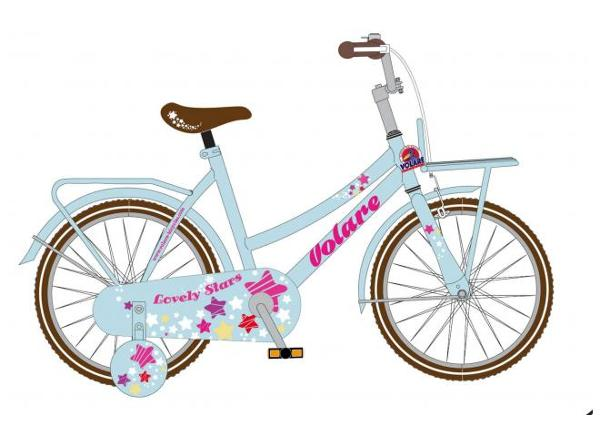 Lasten polkupyörä Volare Lovely Stars 12 tuumaa 2