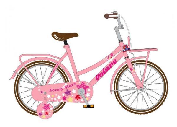 Lasten polkupyörä Volare Lovely Stars 12 tuumaa 1
