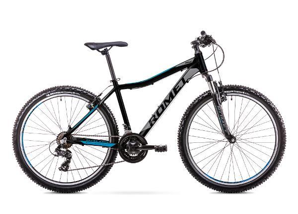 Nuorten maastopyörä 17 M Rower ROMET RAMBLER R6.1 JR musta-sininen