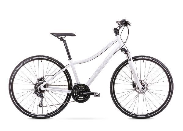 Naisten hybridipyörä 15 S Rower ROMET ORKAN 4 D valkoinen