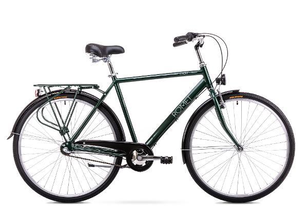 Miesten kaupunkipolkupyörä 20 M Rower ROMET GROM 3S vihreä