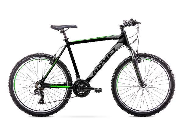 Meeste mägijalgratas 17 M Rower ROMET RAMBLER R6.1 must-roheline