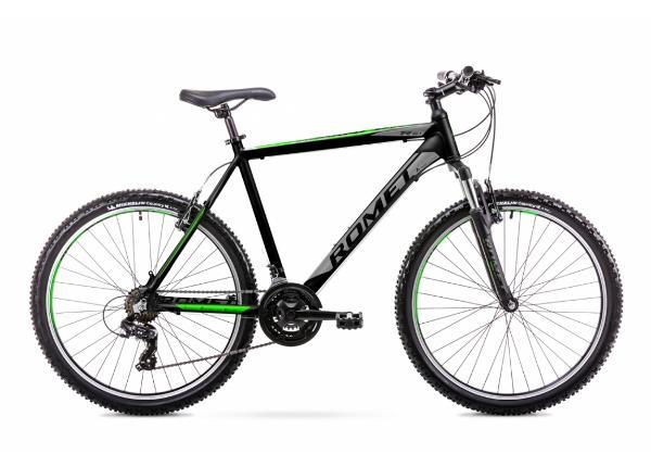 Miesten maastopyörä 19 L Rower ROMET RAMBLER R6.1 musta-vihreä
