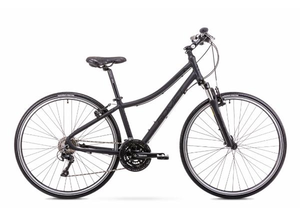 Женский гибридный велосипед 17 M Rower ROMET ORKAN 5 D черный