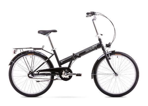 Kokoontaitettava kaupunkipyörä 11 M Rower ROMET JUBILAT 2 musta-valkoinen