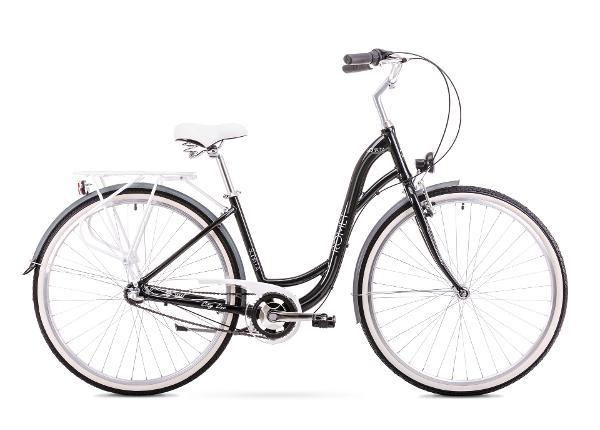 Naisten kaupunkipolkupyörä 17 M Rower ROMET SONATA 2.0 musta-harmaa