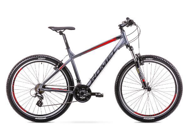 Meeste mägijalgratas 21 XL Rower ROMET RAMBLER R7.0 grafiit-punane