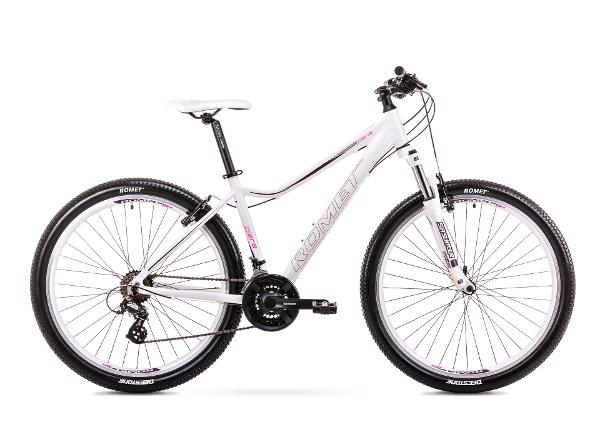 Naiste mägijalgratas 19 L Rower ROMET JOLENE 7.0 valge