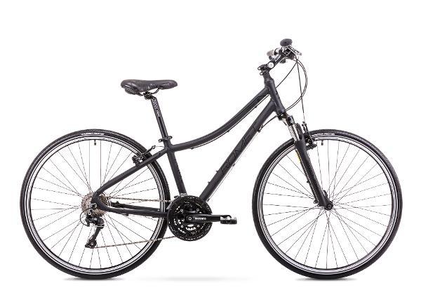 Naisten polkupyörä 15 S Rower ROMET ORKAN 5 D mattamusta