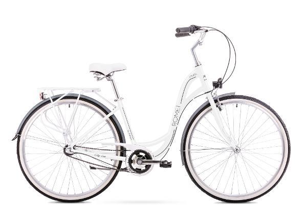 Naisten kaupunkipolkupyörä 17 M Rower ROMET SONATA 2.0 valkoinen-musta