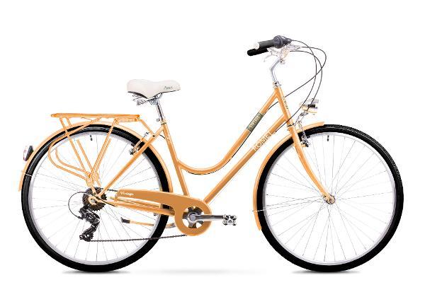 Naisten kaupunkipyörä 20 L Rower ROMET VINTAGE D persikka