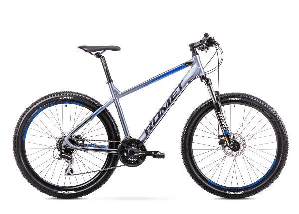 Miesten maastopyörä 21 XL Rower ROMET RAMBLER R7.2 grafiitti-sininen