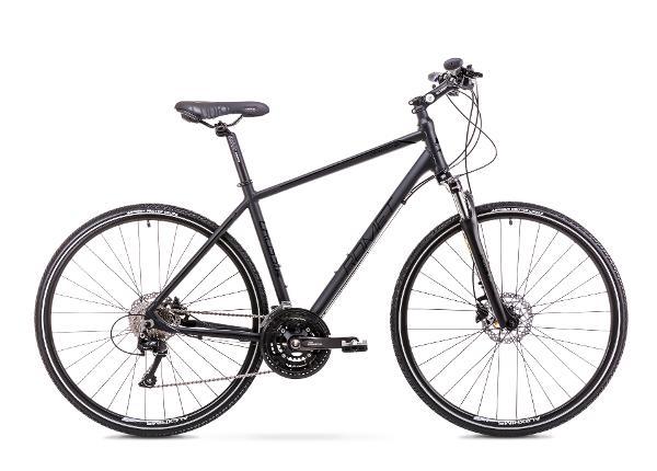 Мужской гибридный велосипед 19 M Rower ROMET ORKAN 6 M черный матовый