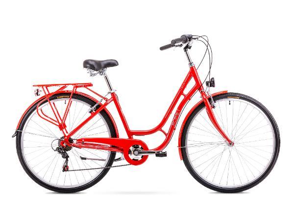 Naisten kaupunkipyörä 18 M Rower ROMET LUIZA 6S punainen