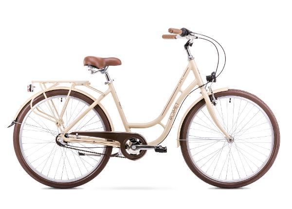 Naisten kaupunkipyörä 18 M Rower ROMET TURING 3S beige
