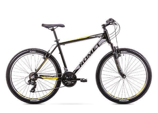 Miesten maastopyörä 17 M Rower ROMET RAMBLER R6.0 musta-keltainen