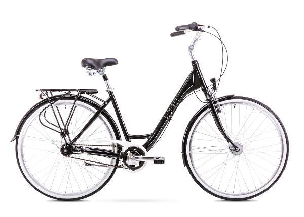 Naisten kaupunkipyörä 117 M Rower ROMET MODERNE 7 musta