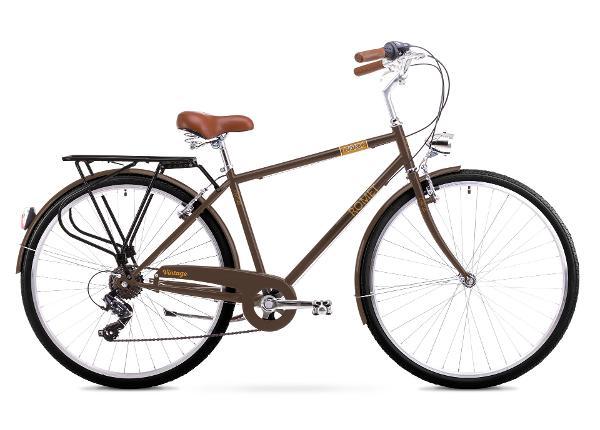 Miesten kaupunkipyörä 20 XL Rower ROMET VINTAGE M ruskea