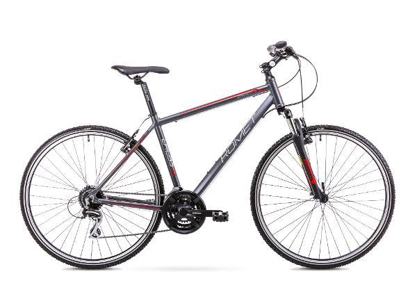 Мужской гибридный велосипед 21 L Rower ROMET ORKAN 2 M графитово-красный