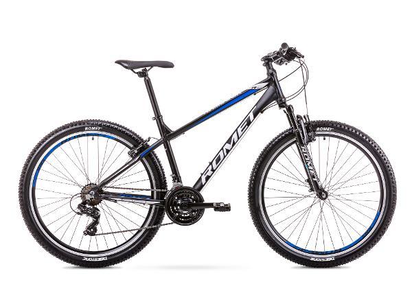 Мужской горный велосипед 17 M Rower ROMET RAMBLER R7.0 LTD черно-синий