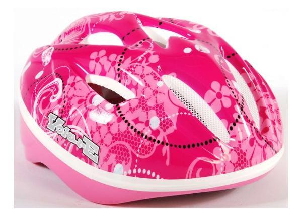 детский шлем Deluxe розовый Flowers Volare