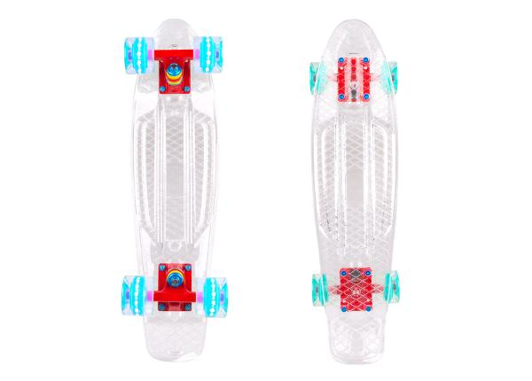 "Доска Pennyboard WORKER Transpy 100 22"" with Light Up Wheels"