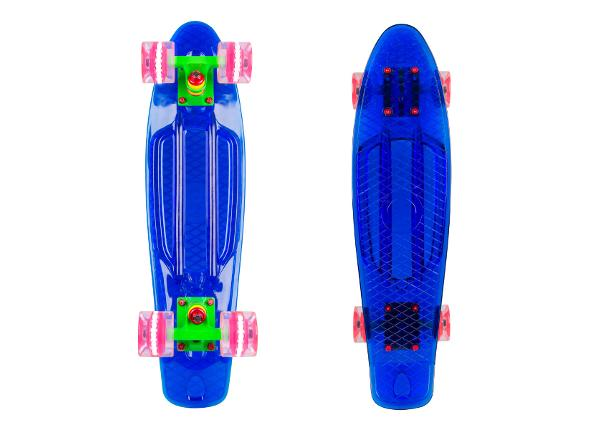 "Penny board WORKER Transpy 400 22"" with Light Up Wheels"