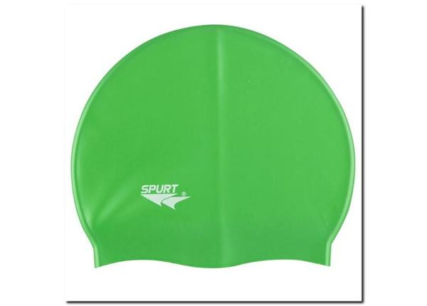 Ujumismüts silikonist SPURT SH86 roheline
