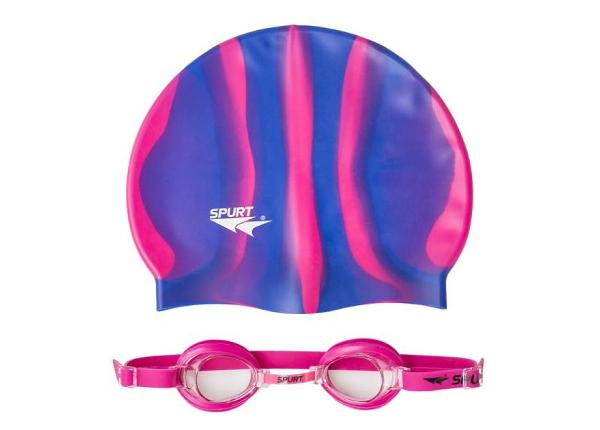 Шапочка и очки для плавания ZEBRA SPURT SET 1100 AF 14 TC-156649