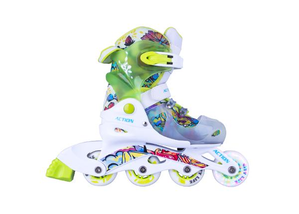 Laste rulluisud reguleeritavad koos helendatave ratastega Doly Action
