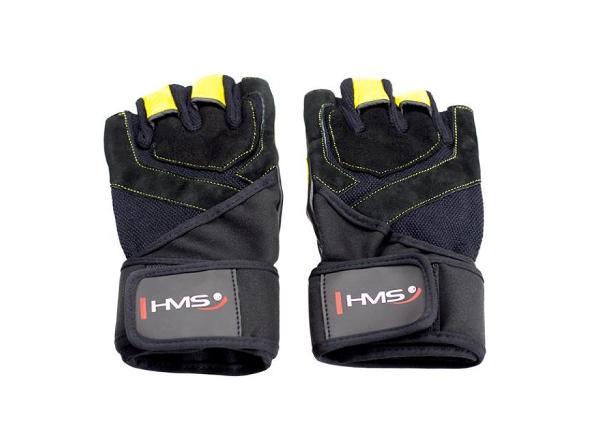 Тренировочные перчатки для взрослых чёрные / жёлтые HMS XXL
